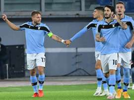Lazio are missing four players including Ciro Immobile (L). AFP