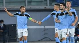 La Lazio informó de varios positivos, sin especificar cuántos ni quiénes. AFP