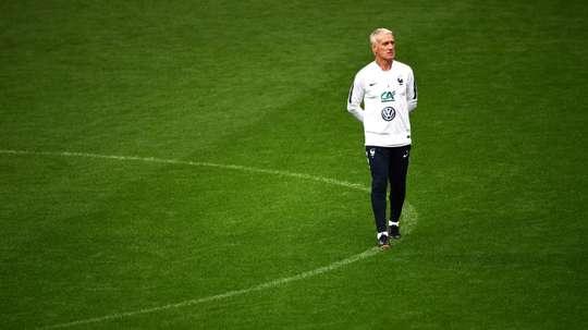Didier Deschamps, lors dun entraînement de léquipe, au Stade de France. AFP