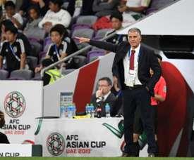 L'entraîneur iranien Carlos Queiroz. AFP