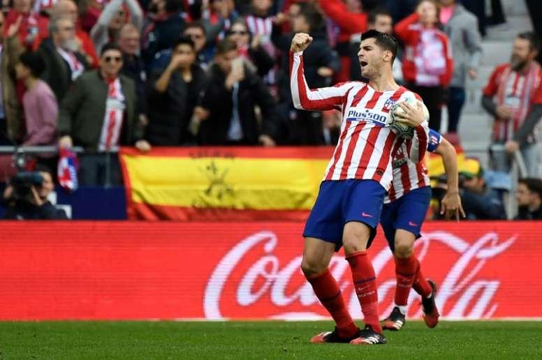 Morata left in the summer. AFP
