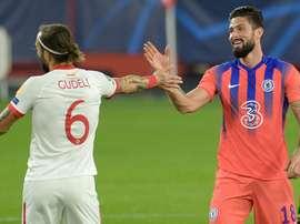 Chelsea étrille Séville grâce à un quadruplé de Giroud. afp