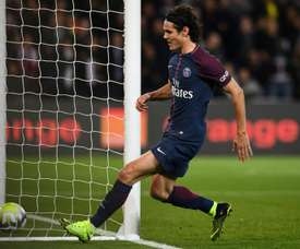 Cavani rose to the occasion. AFP