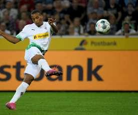 Alassane Plea, sous le maillot du Borussia Mönchengladbach, lors d'un match de Bundesliga. AFP