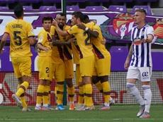 Le Barça souffre mais gagne. AFP