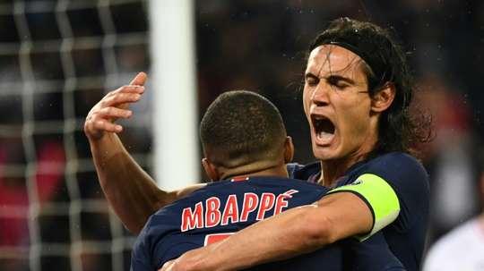 Cavani et Mbappé disponibles contre Nice. AFP