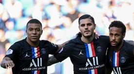 Neymar firmó un tanto espectacular ante el Le Havre. EFE