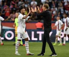 Tuchel a parlé de sa relation avec Neymar. AFP