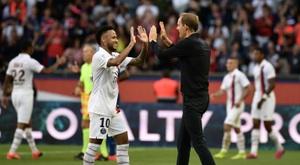 Tuchel comenta as férias de Neymar. AFP