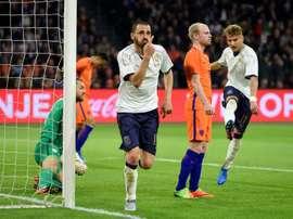 Italianos venceram particular por duas bolas a uma. EFE/EPA