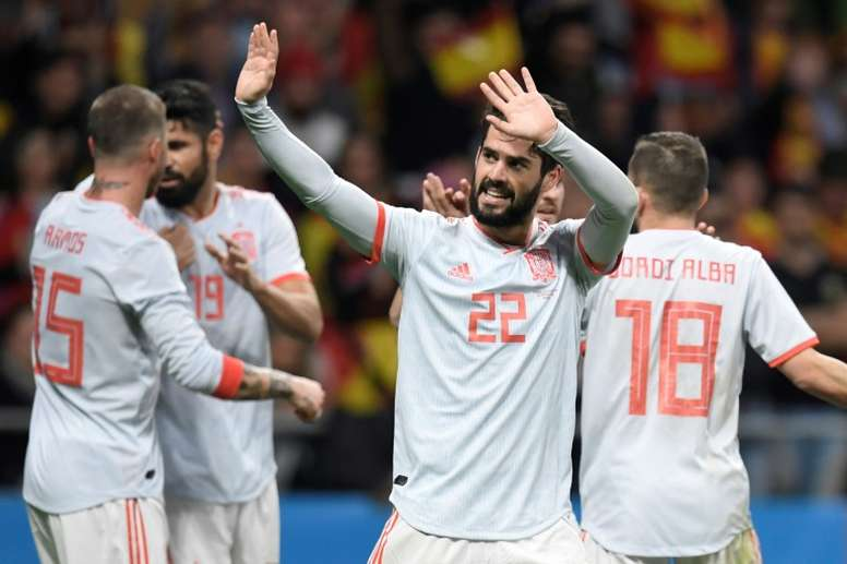 Spain were too good for Argentina on the night. AFP