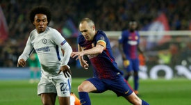 Willian has been on Barça's radar for the last few weeks. AFP