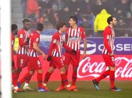 L'Atlético revient à deux points du Barça. AFP
