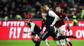 Cristiano sabe marcarle al Milan. AFP