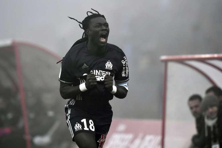 Gomis anotó el tanto de la victoria ante el Dijon. AFP
