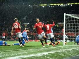 O United está nas meias-finais da FA Cup. AFP