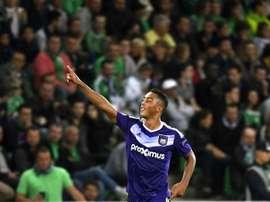 Reparto de puntos en el primer partido del Anderlecht. AFP