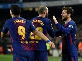 Messi continua a fazer história no Barcelona. EFE