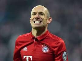 Le milieu du Bayern Arjen Robben en Coupe d'Allemagne face à Wolfsburg. AFP