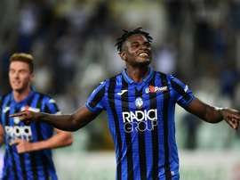 Duvan Zapata's goalscoring has earned him interest from Inter. AFP