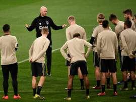 Ajax trabalha na renovação de Ten Hag. AFP