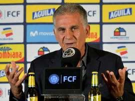 Le sélectionneur colombien choisit de ménager Falcao et James Rodriguez. AFP