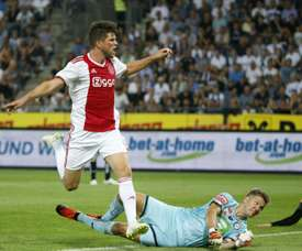 Klaas-Jan Huntelaar scored in the game. AFP