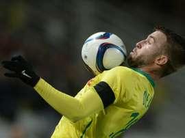 Deaux firma por tres temporadas con el Guingamp. AFP