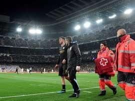 Laporte est sorti sur blessure à Madrid. AFP