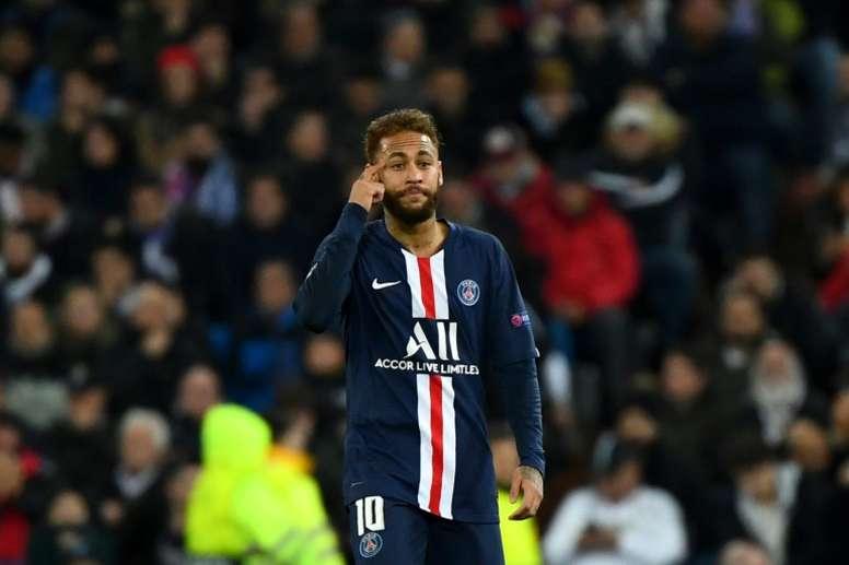 Última, impensable e interesada novedad del futuro de Neymar. AFP