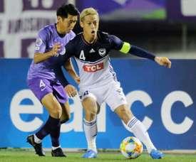 La star japonaise Keisuke Honda quitte déjà Vitesse Arnhem. AFP