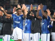 Les Strasbourgeois vainqueurs des Bulgares du Lokomotiv Plovdiv. AFP
