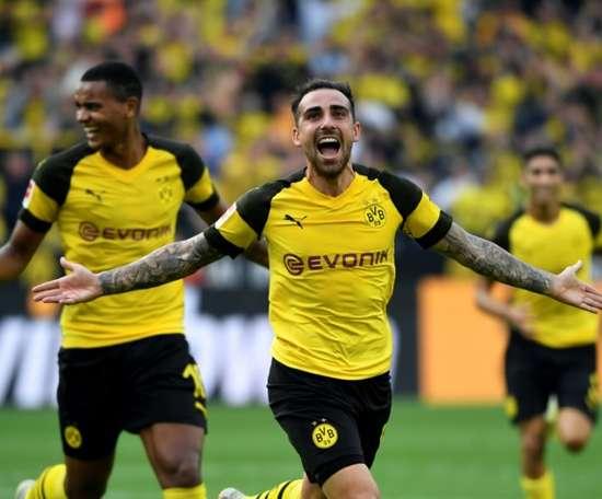 L'attaquant espagnol de Dortmund Paco Alcacer. AFP