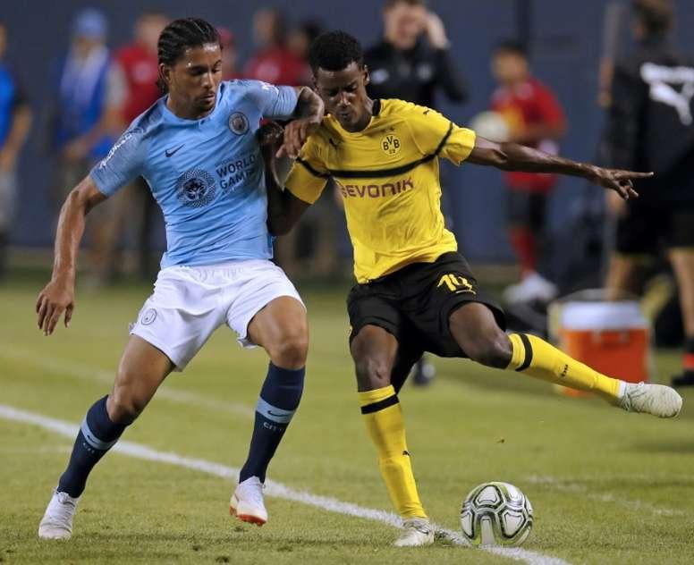 Isak interesó al Madrid justo antes de fichar por el Borussia Dortmund. AFP