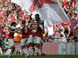 El Arsenal se llevó la Community Shield en los penaltis. AFP