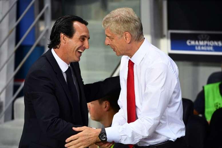 Unai Emery no ha logrado mejorar los números de Arsène Wenger. AFP