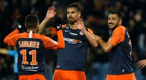 Les compos officielles du match de Ligue 1 entre Dijon et Montpellier. AFP