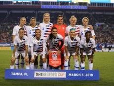 Les joueuses de l'équipe américaine à Tampa en Floride. AFP