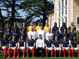 L'équipe de France féminine, le 2 avril 2019 à Clairefontaine. AFP