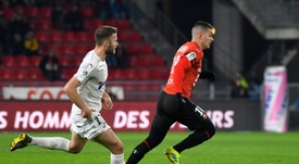 Rennes a gagné dans la douleur. AFP