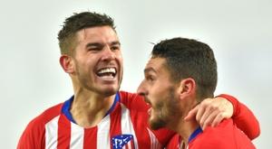 L.Hernandez est heureux d'être de nouveau sur le terrain. AFP