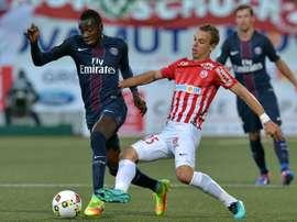 El PSG está a tres puntos del liderato de la Ligue 1. AFP