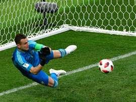 Igor Akinfeev was Russia's penalty saving hero against Spain. AFP