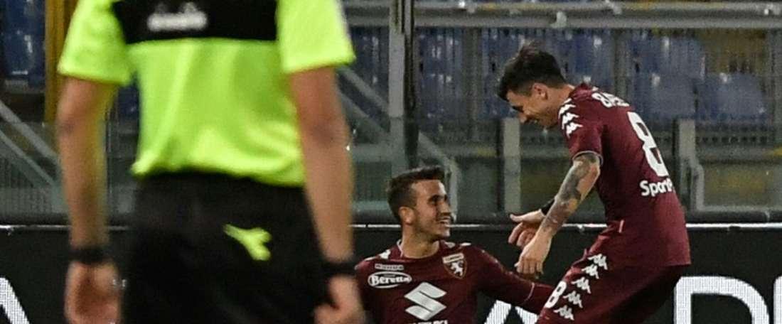 Berenguer marcou com a camisa do Torino. AFP