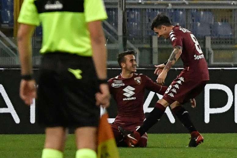 El Torino venció a la Lazio con polémica. AFP