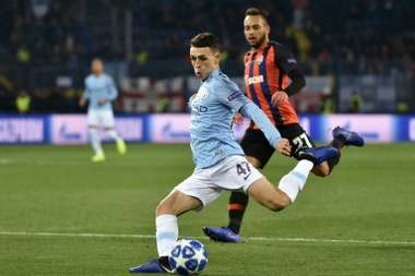 Phil Foden in Champions League action against Shakhtar Donetsk. AFP