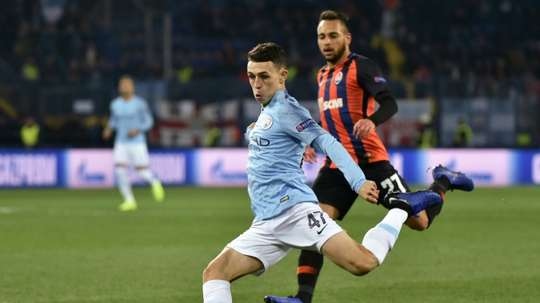 Foden is on the brink of committing his future to Man City. AFP