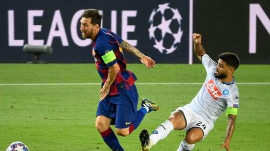 Messi s'est entraîné normalement avant le Bayern. afp