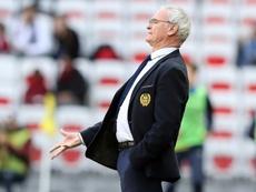 L'entraîneur du FC Nantes Claudio Ranieri suit le match contre Nice à l'Allianz Riviera. AFP