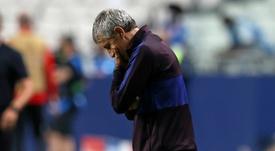 Le FC Barcelone a du pain sur la planche. AFP